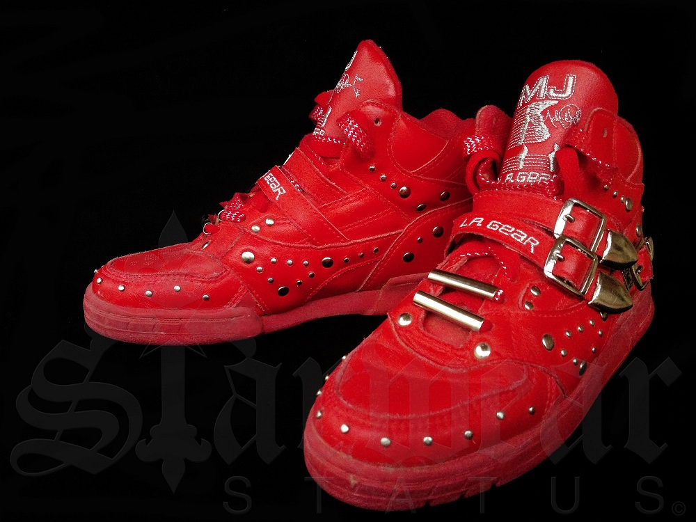 michael jackson vintage red la gear high top shoes. Black Bedroom Furniture Sets. Home Design Ideas
