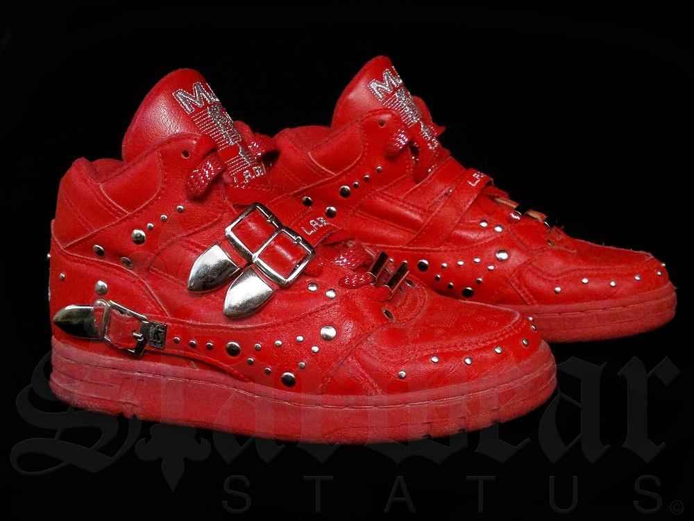 michael jackson vintage red la gear billie jean high top shoes size 6 1 2 very rare. Black Bedroom Furniture Sets. Home Design Ideas
