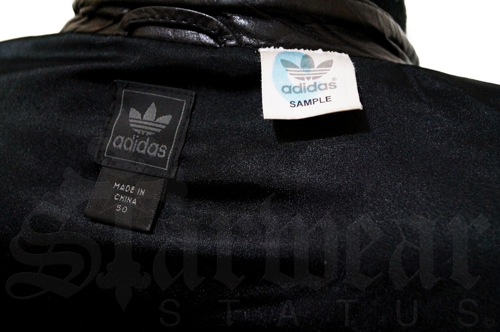 Adidas SAMPLE Crocodile Stitched Black Soft Leather Runway Jacket ...