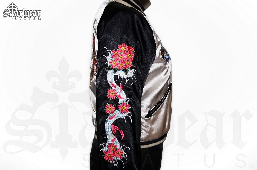Amal guessous a g reversible geisha embroidered velvet